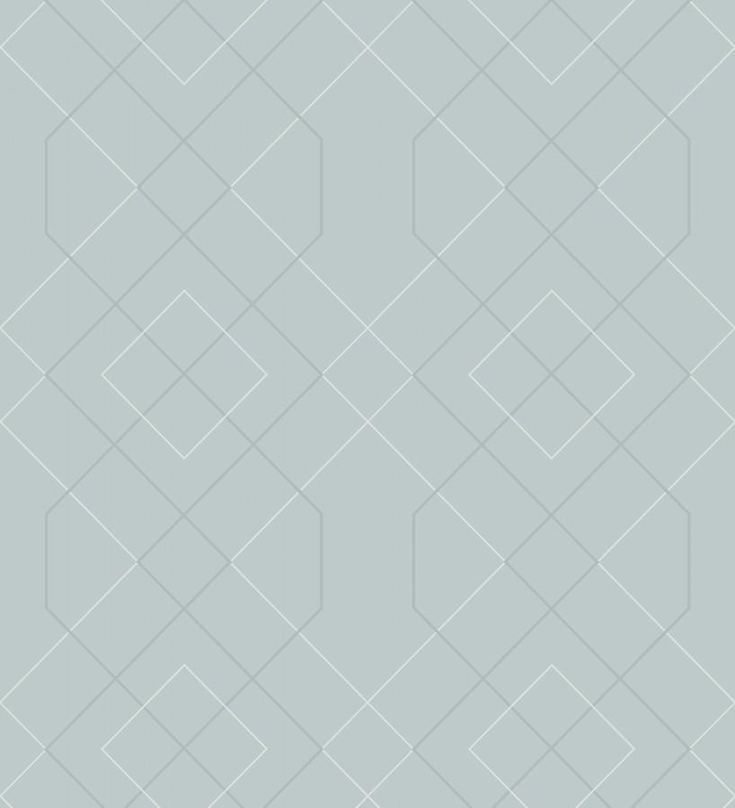 Papel pintado geométrico de líneas con cristales de gel estilo art deco Hampton 680885