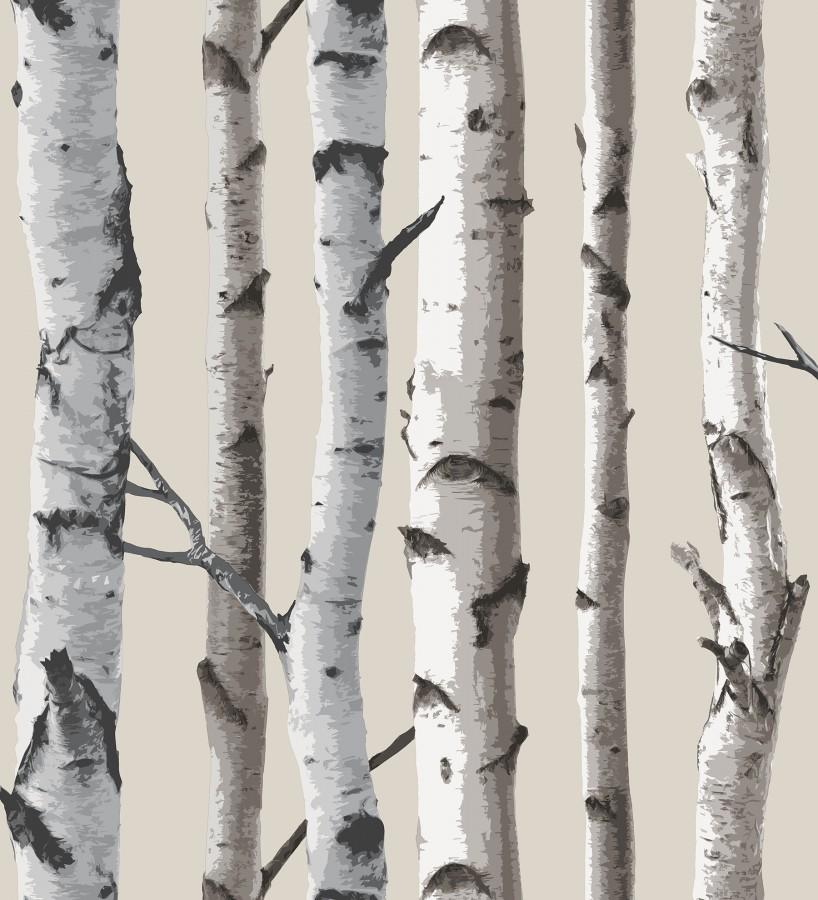 Papel pintado tronco de árboles de estilo nórdico Nordic Forest 680891