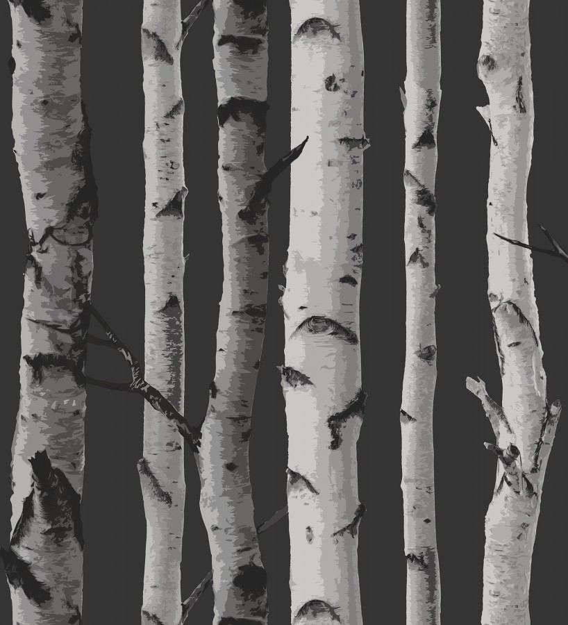 Papel pintado tronco de árboles de estilo nórdico Nordic Forest 680892