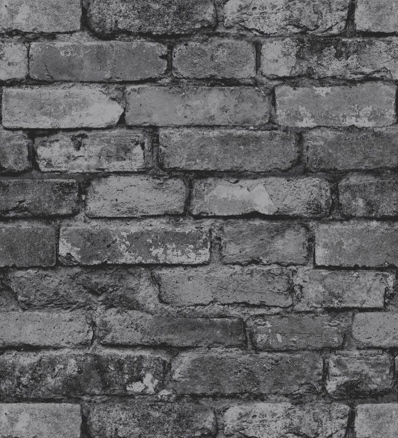 Papel pintado muro de ladrillos gris oscuro Manchester Break 680893