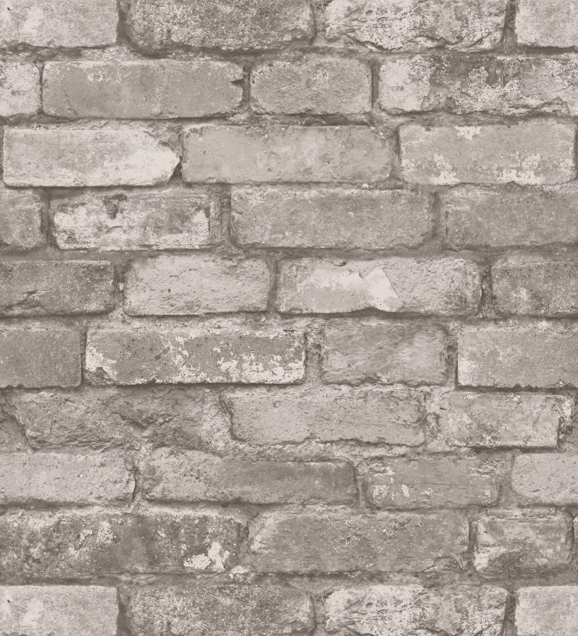 Papel pintado muro de ladrillos gris claro Manchester Break 680895