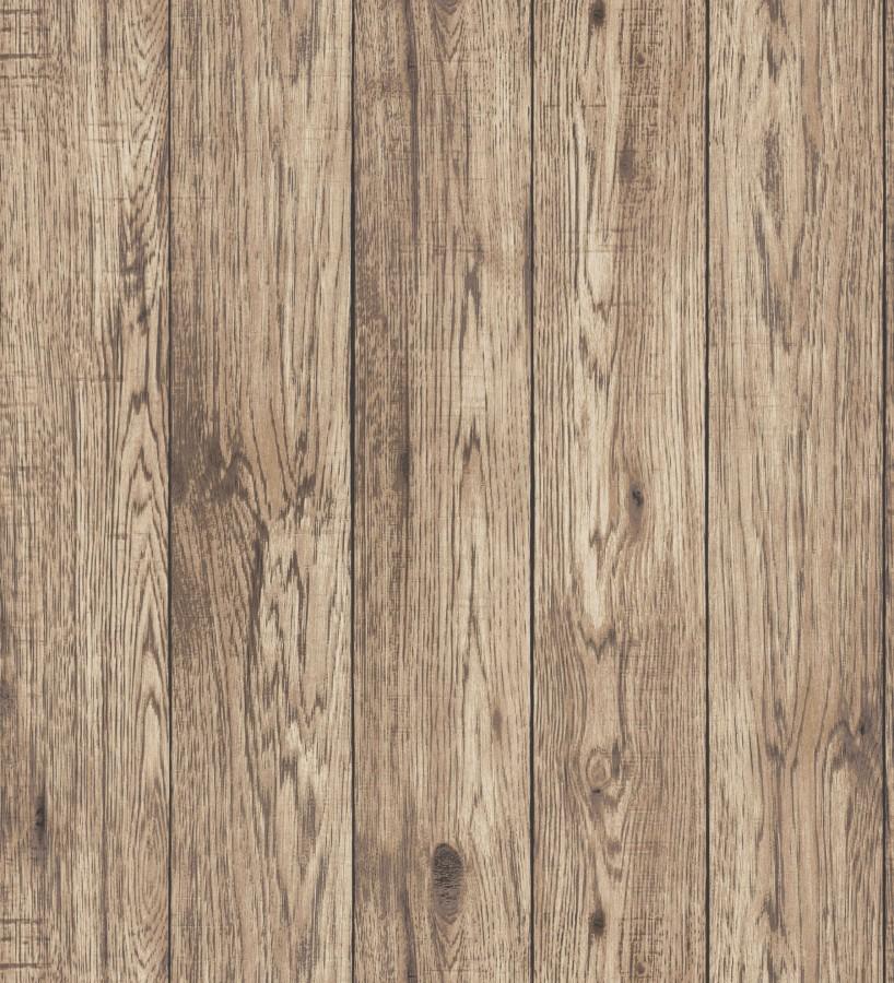 Papel pintado listones de madera con vetas oscuras Channel Wood 680897