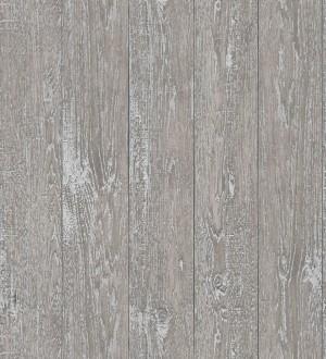 Papel pintado listones de madera gris con vetas metalizadas Channel Wood 680899