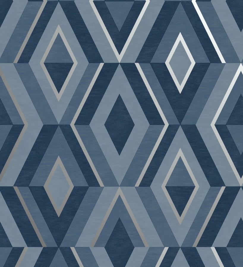 Papel pintado geométrico moderno con detalles metalizados Diamond Palace 680909