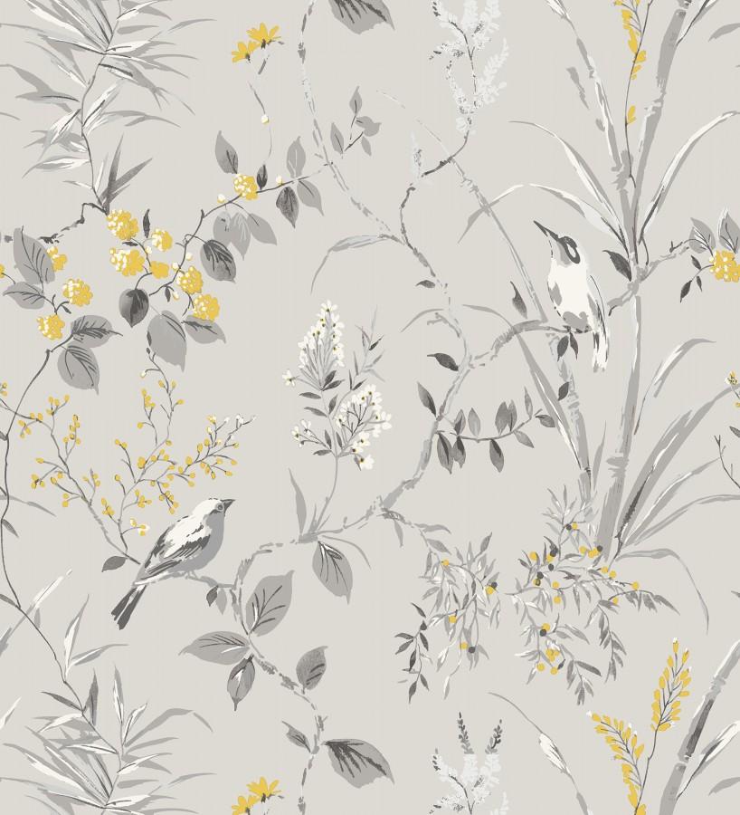 Papel pintado de ramas y pájaros estilo romántico Alison Garden 680927