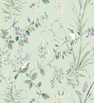 Papel pintado de ramas y pájaros estilo romántico Alison Garden 680928