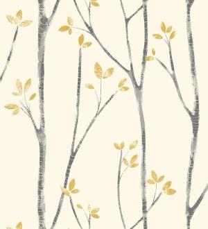 Papel pintado de ramas de árboles nórdicos Benson Forest 680945