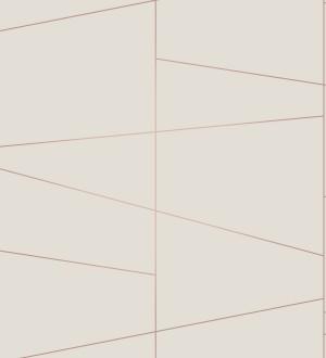 Papel pintado geométrico lineas metalizadas estilo Art déco Luxury Lines 680948