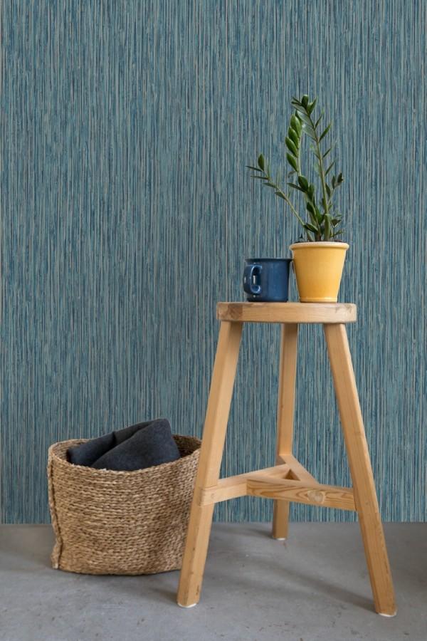 Papel pintado efecto pintura tonos azules Tianyar 679316