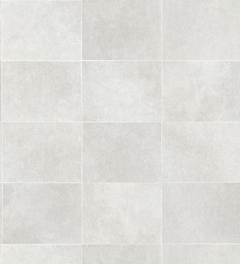 Papel pintado azulejo blanco texturizado Bergamo 679323