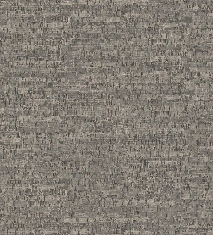 Papel pintado imitación corcho texturizado tonos gris oscuro Mileto 679347