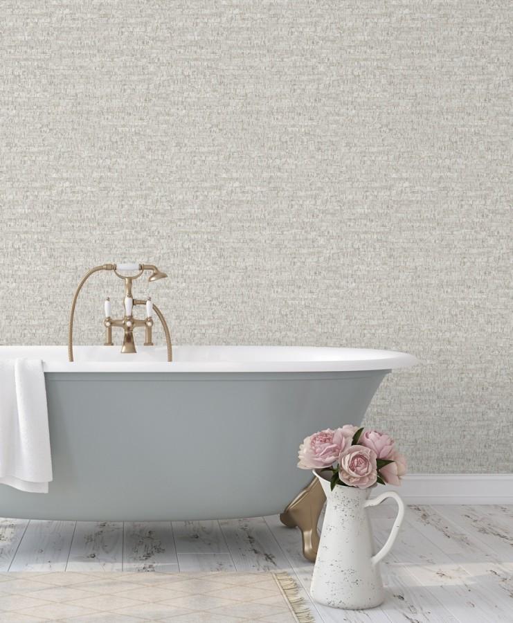 Papel pintado imitación corcho texturizado tonos grises Mileto 679349