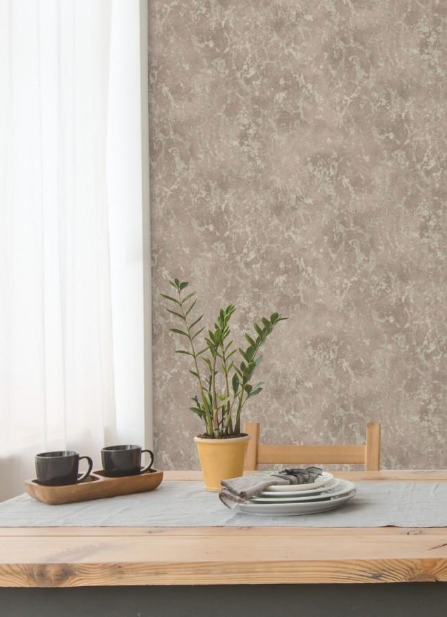 Papel pintado estuco veneciano liso con vetas rugosas Travis Stone 679353