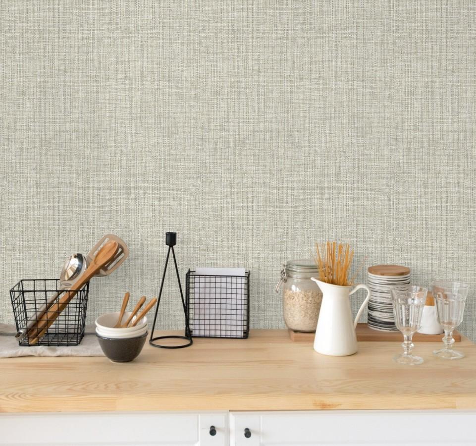 Papel pintado con textura textil tonos blancos y grises Tamil Fabric 679357