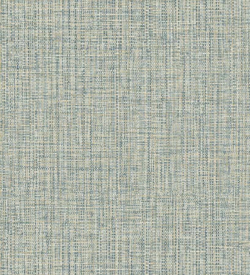 Papel pintado con textura textil tonos turquesas Tamil Fabric 679359