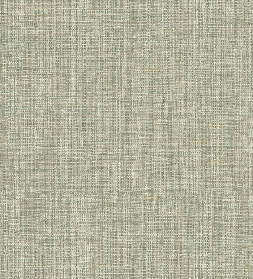 Papel pintado con textura textil tonos verdes Tamil Fabric 679361