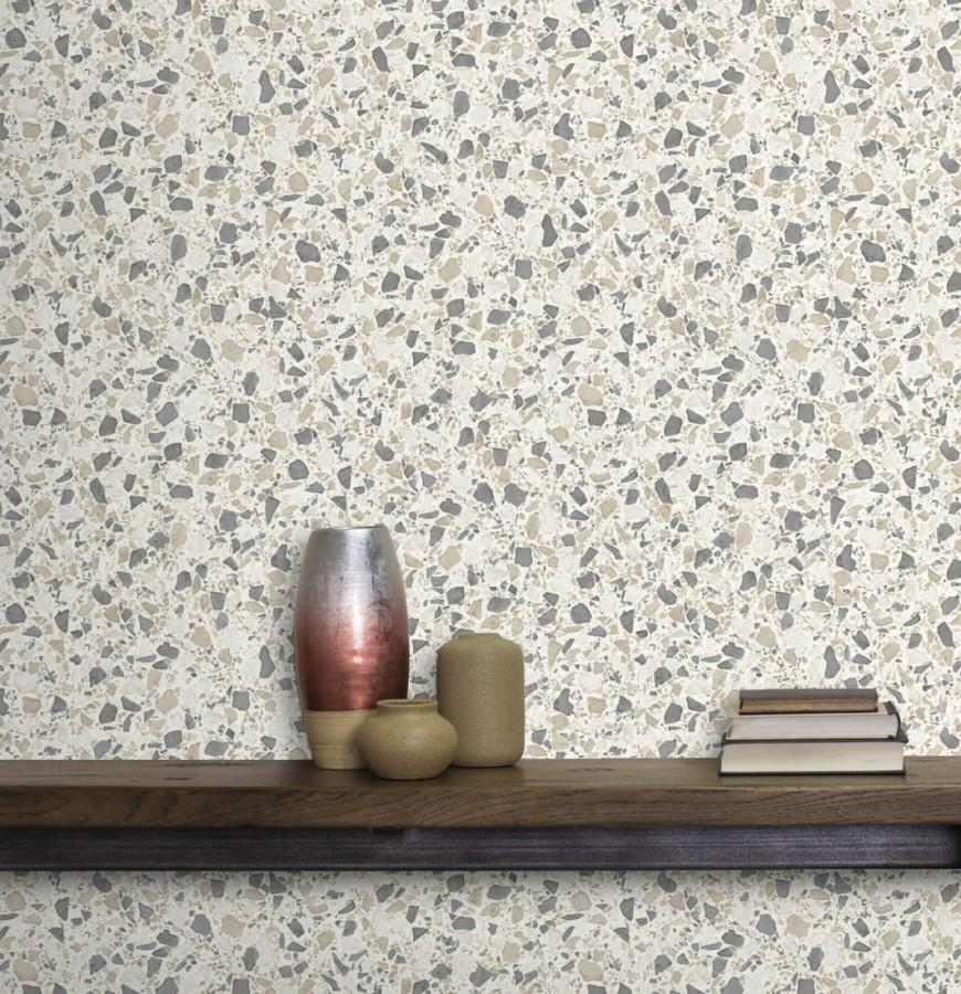 Papel pintado mármol de terrazo Genova 679370