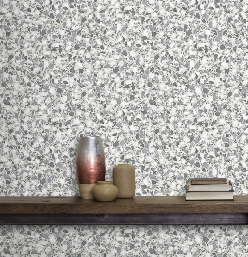Papel pintado mármol de terrazo Genova 679371