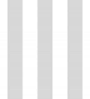 Papel pintado de rayas grises y blancas Raya Lancaster 680215