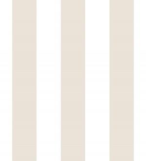 Papel pintado de rayas beige y blancas Raya Lancaster 680221