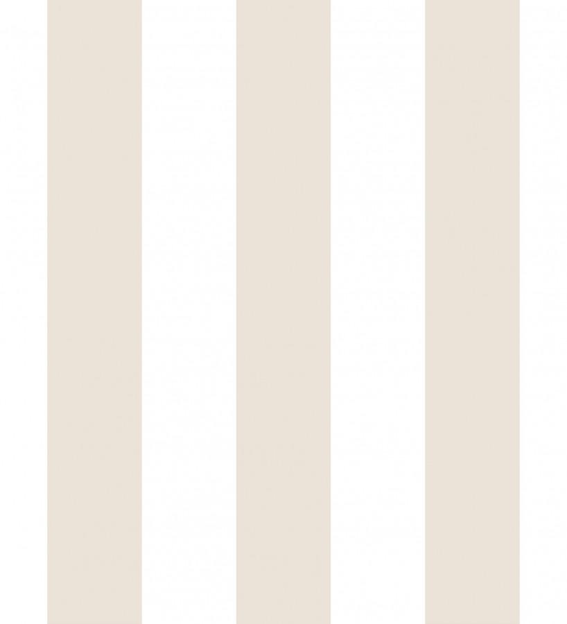Papel pintado infantil de rayas beige y blancas Raya Piccolo 680223