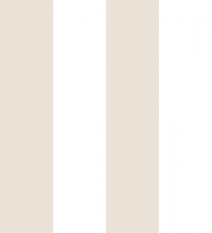 Papel pintado de rayas anchas beige y blancas Raya Devon 680226