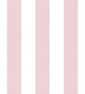 Papel pintado infantil de rayas rosas y blancas Raya Piccolo 680227