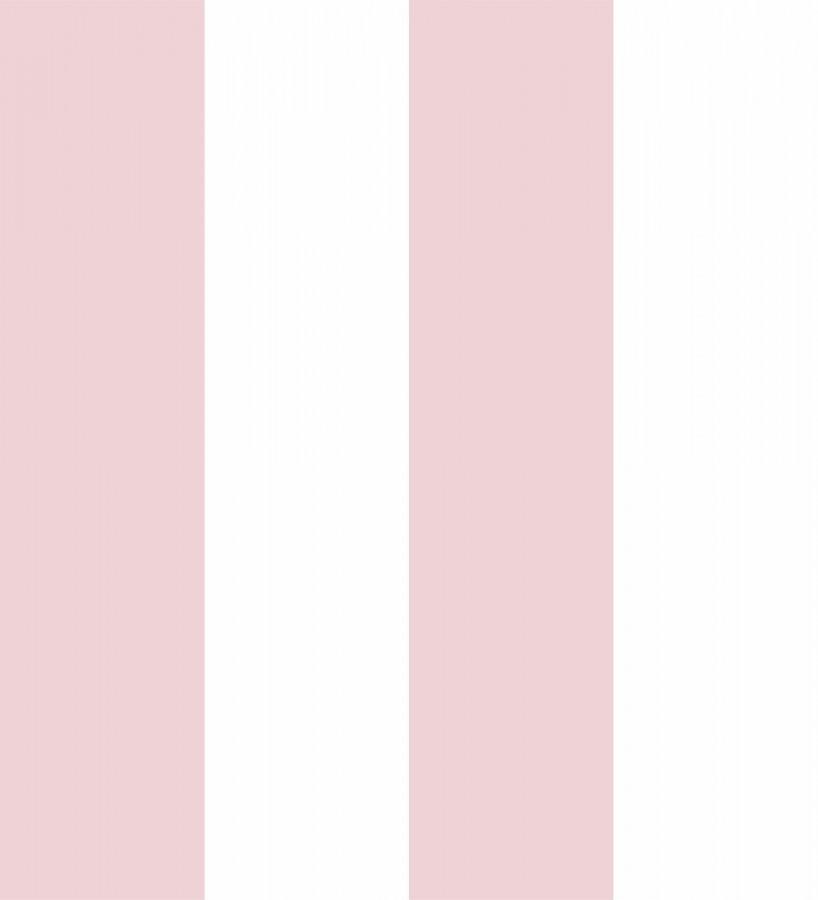 Papel pintado infantil de rayas anchas rosas y blancas Raya Silky 680229