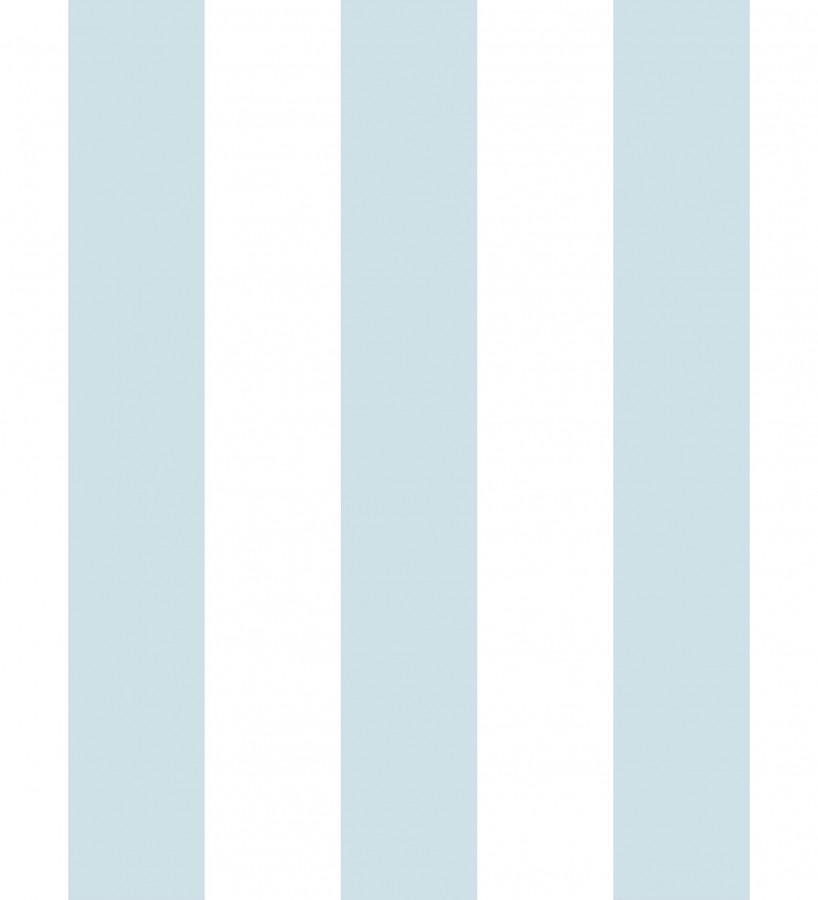Papel pintado infantil de rayas celestes y blancas Raya Piccolo 680230
