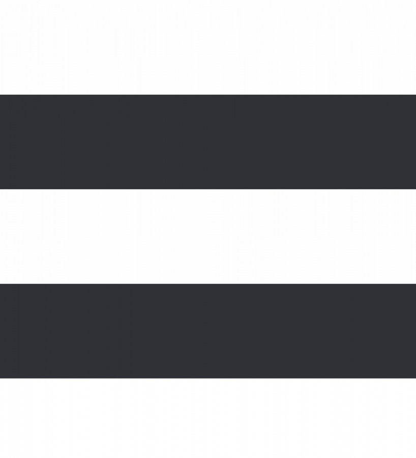 Papel pintado de rayas horizontales negras y blancas Raya Lancaster FL 680234
