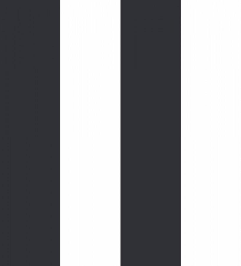 Papel pintado de rayas anchas negras y blancas Raya Devon 680235