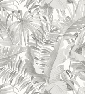 Papel pintado de hojas tropicales blancas Maldivas Tropical 680937
