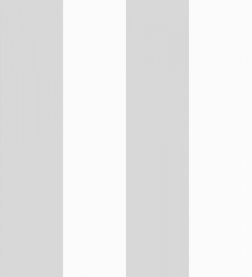 Papel pintado infantil de rayas anchas grises y blancas Raya Silky 680219