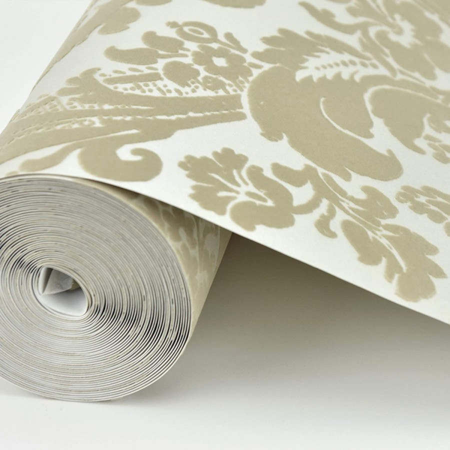 Papel pintado damasco de terciopelo en relieve Adagio 679504