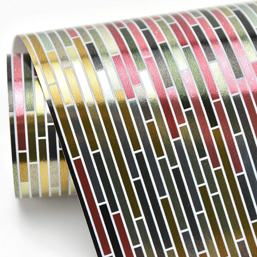 Papel pintado damascos a trazos geométricos estilo moderno Tarek Modern 679471