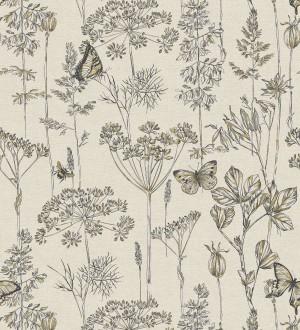 Papel pintado ramas y mariposas Milton Fields 126311