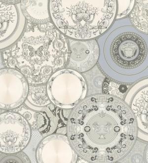 Papel pintado platos decorativos de Versace Casa Donna 126325