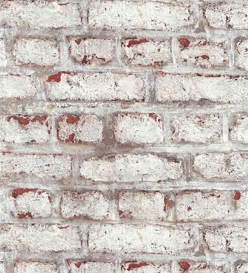 Papel pintado pared de ladrillos desgastado estilo vintage Kansas Street 126334