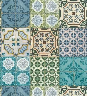 Papel pintado azulejos mediterráneos con estilo árabe Zafir Mosaic 126339