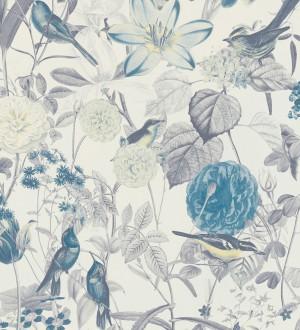 Papel pintado de pájaros y flores estilo inglés Victoria Blossom 126372