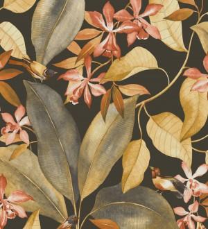 Papel pintado hojas grandes con pájaros Secret Garden 126400