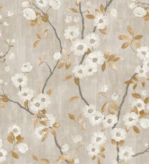 Papel pintado de ramas con flores japonesas Hilda Spring 126406