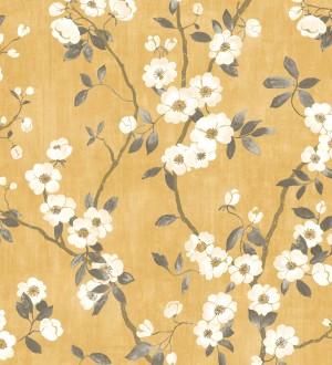 Papel pintado de ramas con flores japonesas Hilda Spring 126407