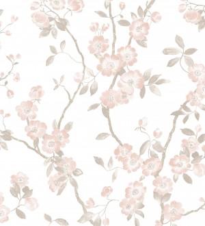 Papel pintado de ramas con flores japonesas Hilda Spring 126408