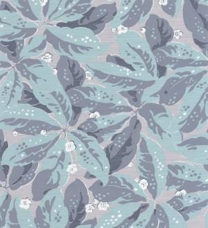 Papel pintado hojas grandes tonos celestes Okinawa Flowers 126424