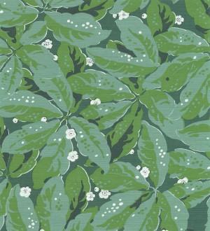 Papel pintado hojas grandes tonos verdes Okinawa Flowers 126427