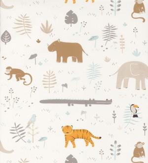 Papel pintado infantil animales africanos Safari Fun 126508