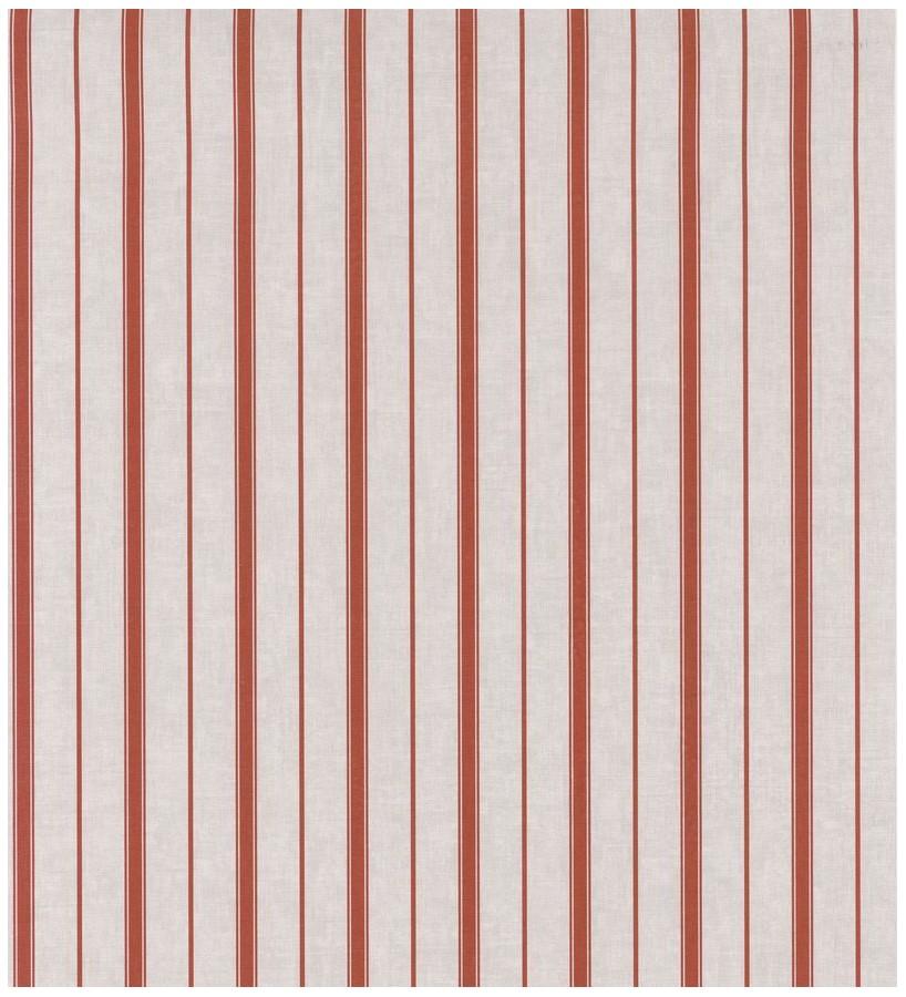 Papel pintado rayas estrechas desiguales terracota Port Stripes 126575