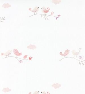 Papel pintado infantil de pajaritos Sweet Birds 126621
