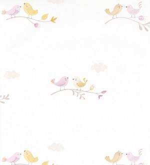 Papel pintado infantil de pajaritos Sweet Birds 126622